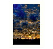 Warwick Sunset Art Print