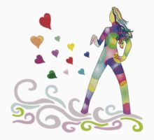 rainbow surfer of love by KERES Jasminka