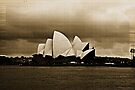 Sydney Opera House in Sepia by Evita