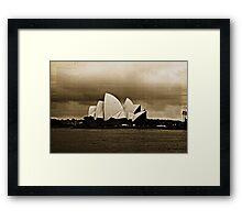 Sydney Opera House in Sepia Framed Print