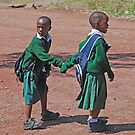 Off to School, Tanzania, Africa by Adrian Paul