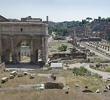 Roman Forum from the Tabularium by John Nelson