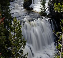 Kepler Cascades - Yellowstone National Park by Stephen Beattie