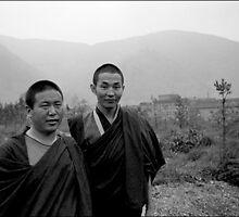 Wu Tai Shan Monks II by David  Lange