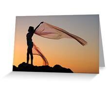 Sunset Princess 2 Greeting Card