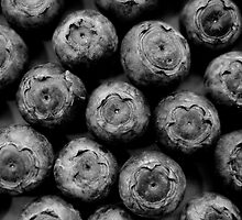 Blueberries in black by Sophie Goldsworthy