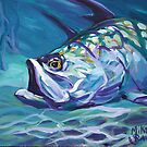 Tarpon In The Shallows by Mike Savlen