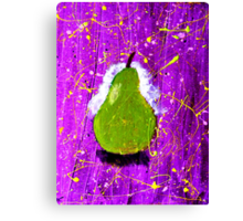 Pear on Purple. Canvas Print