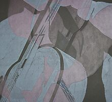 Musica: Cellist Monotype by Marion Chapman