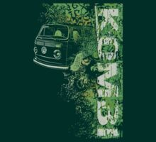 Volkswagen Kombi Tee shirt - Grunge Green by KombiNation