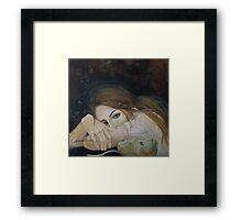 "Unspoken words...""Resentment"" series Framed Print"