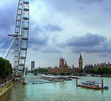 London Icons - The Eye, and Westminster by Colin J Williams Photography