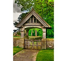 Lych-Gate, Holy Trinity, Coverham Photographic Print