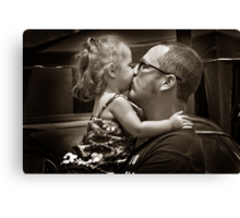 I love you Daddy!!!!!! Canvas Print