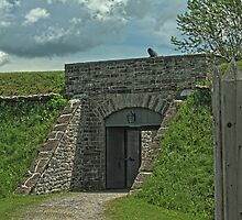 Main Gates, Fort Wellington, Prescott, Ontario by Mike Oxley