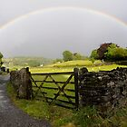 Rainbow over Near Sawrey by Simon Hathaway