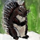 The Squirrel In Winter by RobynLee