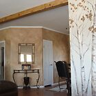 Colorodo Aspens and aged wall by viveca