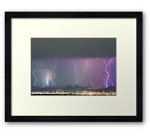 Lightning City Framed Print