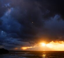 sunrise on a stormy morning two by Juilee  Pryor