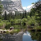 Mirror Lake Reflection of Mt. Watkins by Shaina Lunde