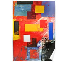 Abstract Squares #3 Poster