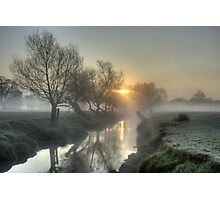 Misty Sunrise Photographic Print
