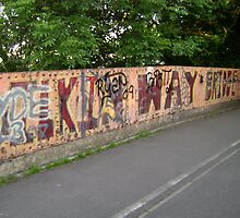 Silkin way bridge graffiti by Noxious-Nikki