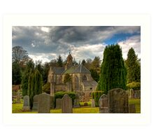 Mid Calder Church Art Print