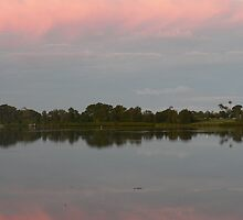 Winter's Pastel Sky, Manning River by louisegreen