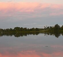 Reflections At Dusk, Manning River by louisegreen