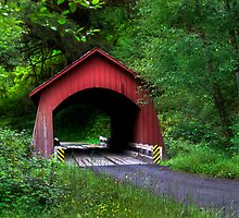Red Bridge by Rick  Bender