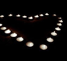 Candle lit Heart by Allison Dougherty