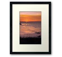 Sunset over Reculver Framed Print