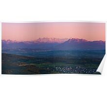 sunset view from uetliberg Poster