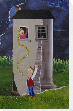 Rapunzel in her tower by Sanne Thijs