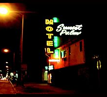 Motel, Sunset Strip, CA by gailrush