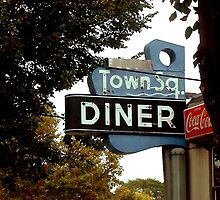 Town Square Diner Sign by gailrush