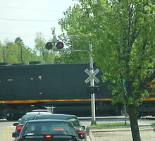 CSX Train Crossing-Medina County-Ohio by Bea Godbee