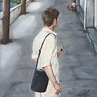 THE AMERICAN TOURIST/Oil on canvas by Marla Brate