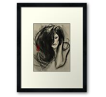 one dark whisper... Framed Print