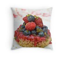 Dessert with berries Throw Pillow