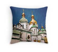 St Sophia Cathedral in Kiev Throw Pillow