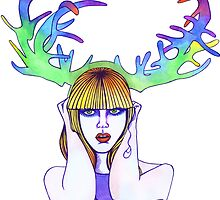 Antler Girl by Chelle  Terry