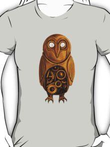 wooden owl clock T-Shirt