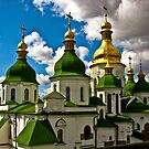 Domes of Saint Sophia Cathedral  by LudaNayvelt