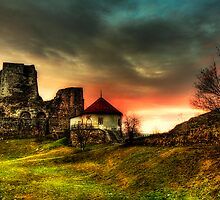 Castle and sunset by Roberto Pagani