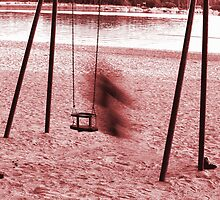 On a swing in motion blur by Arve Bettum