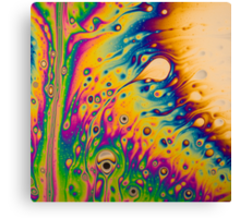 Light Interference on a Soap Bubble Canvas Print