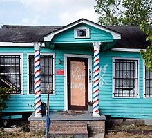 Barber Shop in New Orleans 9th Ward after Katrina by Carol M.  Highsmith